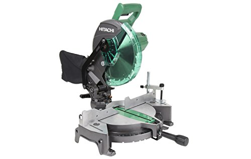 "The Hitachi C10FCG 10"" Compound Miter Saw is lightweight for easier transport. The 15 Amp motor generates a no-load speed of up to 5,000 RPM for making crosscuts and miter cuts with ease. This saw offers a bevel range of 0-45 degrees to the l..."