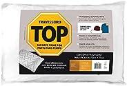 Travesseiro Suporte Firme, Top Flocos de Espuma, P/ fronhas 50x70 cm, Fibrasca, Branco