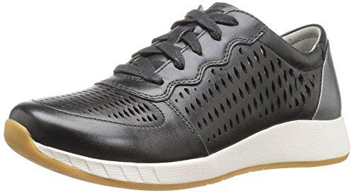 Dansko Women's Charlie Fashion Sneaker Black Leather