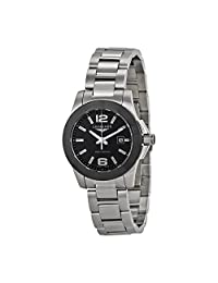 Longines Conquest Black Dial Stainless Steel Ladies Watch L32574566