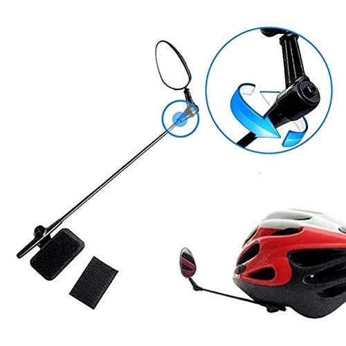 Powerfulline Universal Bike Helmet Mirror Adjustable Angle MTB Road Bicycle Cycling Rear View