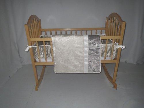 Baby Doll Bedding Crocodile Cradle Bedding Set, Chardonnay