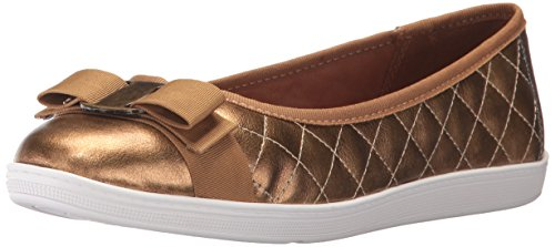 Vintage Hush Puppies (Soft Style by Hush Puppies Women's Faeth Flat, Bronze Vintage, 11 W US)
