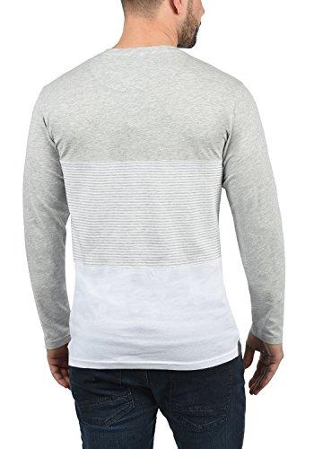 Motif Manches Longues Melange Pour Avec T Grey Tunisienimprimé Homme 8242 Col Marte solid Light shirt À p0qqTg