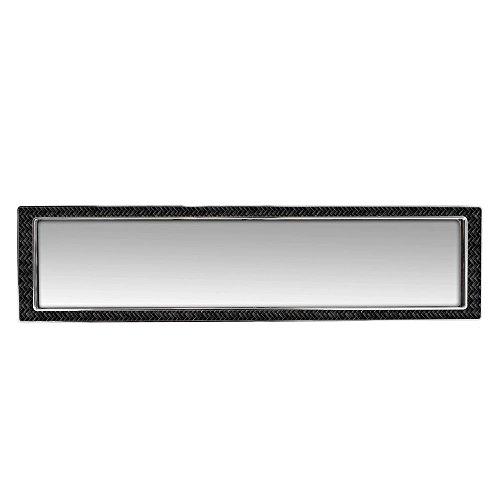 (Pilot Automotive MI-140 Rear View Mirror with Carbon Fiber Insert and Chrome Trim)