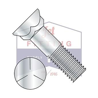 3//4-10X3-1//2 Plow Bolts Grade 5 Steel 90pcs Zinc