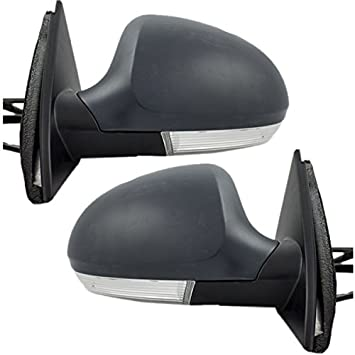 Mirrors Power Heated Turn Signal Puddle Light Pair Set for 05-10 VW Jetta