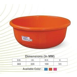Samruddhi Ghamela Kisan Plastic Tub, 9.5L(Pink, Samruddhi)