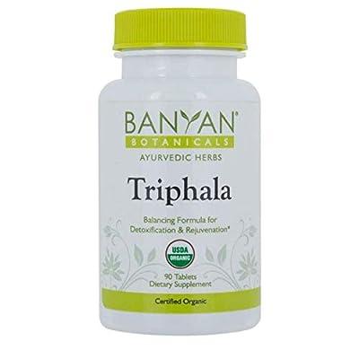 Banyan Botanicals Organic Triphala Tablets - Certified USDA Organic - Balancing Formula for Detoxification, Elimination & Rejuvenation*