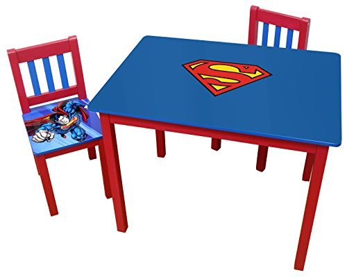 O'Kids Superman Wooden Table and Chair Set by O'Kids
