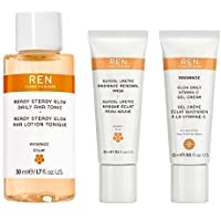 REN Clean Skincare Glow on the Go Travel 3-Piece Kit ($40 Value) Includes Travel-Size Ready Steady Glow Tonic, Glow…