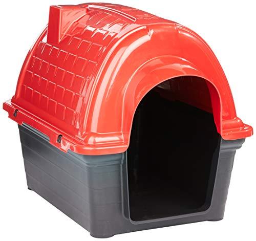 Casinha Plástica Furacão Pet Iglu N.2.0, Vermelha Furacão Pet para Cães