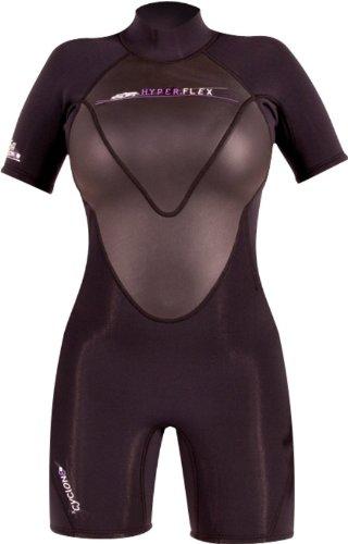 Hyperflex Wetsuits Women's Cyclone2 2.5mm Spring Suit, Black