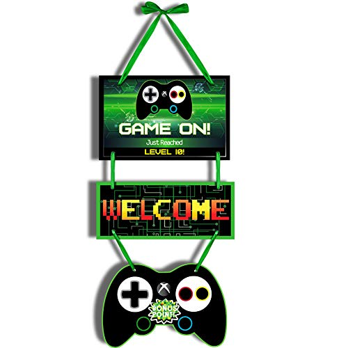 Video Game Party Supplies Gaming Party Door Decorations For Boy Gamer Birthday Game Over On Party Favor