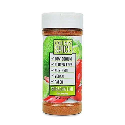 Sriracha Lime Low Sodium Keto Friendly Seasoning, 0 Carbs, Less Then 1 Gram of Sugar, Gluten-Free, Vegan, Paleo, Non-GMO, No Preservatives, No Fillers, and No Artificial Flavoring (Sriracha Lime)