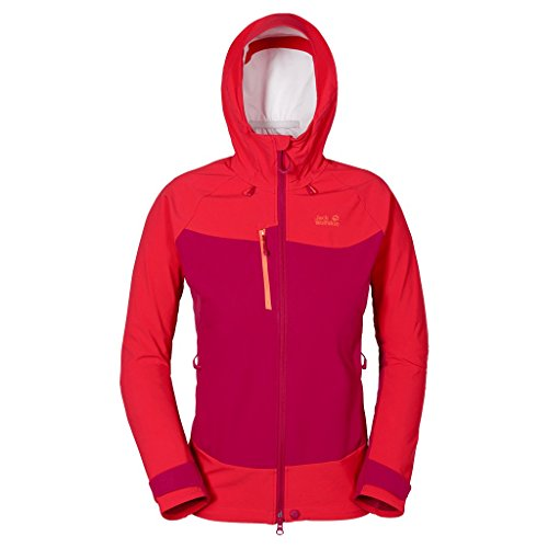 Gravity Womens Jacket (Jack Wolfskin Women's Gravity Flex Jacket, Azalea Red,)