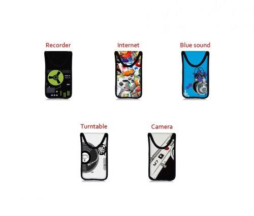 MySleeveDesign funda estuche para móvil smartphone como Samsung Galaxy S4, HTC One, Sony Xperia Z, LG Optimus, etc.)