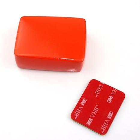 MadridGadgetStore® Flotador Esponja Floaty Boya Rojo + Adhesivo 3M para Camara Go Pro GoPro HD Hero5 Hero4 Hero 5 4 3+ 3 2 Black Silver Session SjCam Sj4000 ...