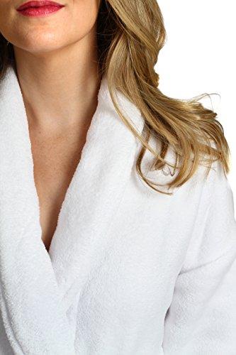 White Wrapped In A Cloud Women's Plush Spa Bathrobe, White - Wgw/L