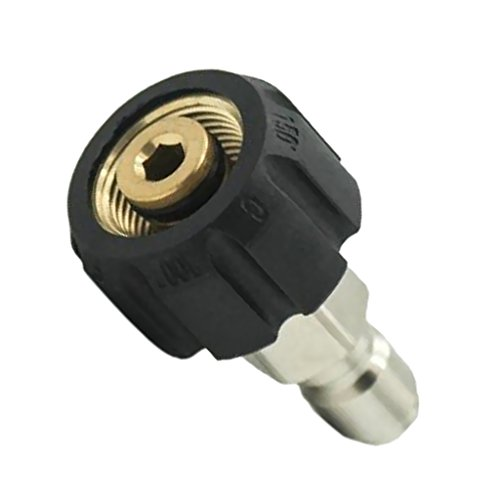 Flameer Pressure Washer Quick Connect Adapter Connector M22/14 To 1/4 Male Coupling (1/4 Male Coupling)