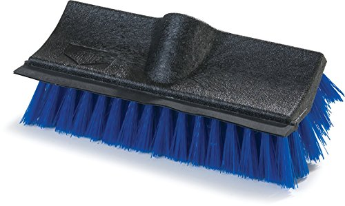 Carlisle 3619014 Flo-Pac Dual Surface Plastic Block Floor Scrub with Rubber Squeegee, Polypropylene Bristles, 10