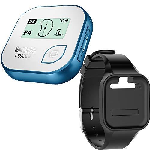 - Golf Buddy Bundle Voice 2 Golfbuddy Voice2 Easy-to-Use Talking GPS (Blue) + Silicon Wristband (Black)