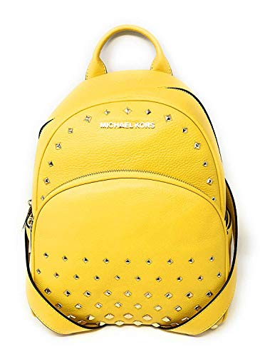 f964c7c8d1bbbc Michael Kors Abbey Medium Studded Leather Backpack For Work School Office  Travel