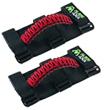 Alien 4x4 Jeep Grab Handles - Premium Paracord Jeep Grab Handles 3 Velcro Straps Easy to Install (Pack of 2) (Cherry Red): more info