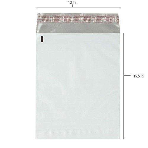 500 - 12x15.5 Fosmon Self-Seal Tear-Proof Polyethylene Mailers (500 Pack)