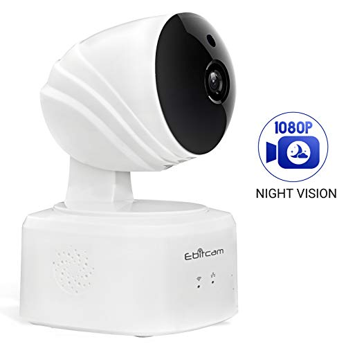 1080P WiFi Camera,Baby Monitor with Two-Way Audio Pan/Tilt/Zoom Night Vision,Remote Real-time Monitoring,Cloud Storage, Compatible with Alexa