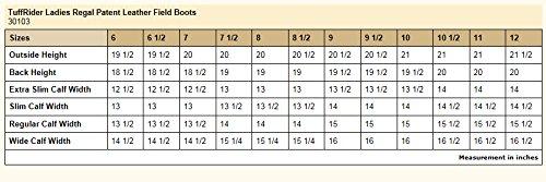 Tuffrider Regal Patent Field Boots Dames Zwart 12 Ld
