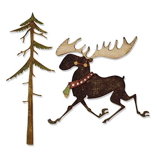 Sizzix 663103 Thinlits Dies Merry Moose by Tim Holtz, 7-Pack, Multicolor by Sizzix (Image #3)