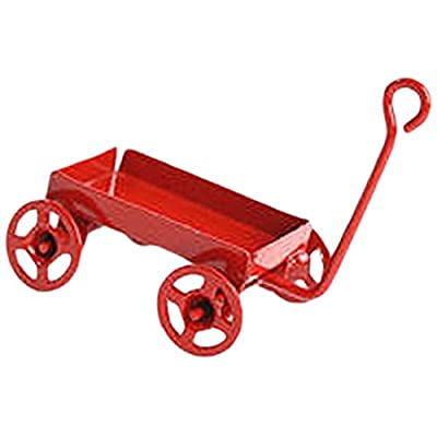 Timeless Minis - Miniature Red Toy Wagon with Red Wheels- 1.1875 x .6875 inches: Arts, Crafts & Sewing