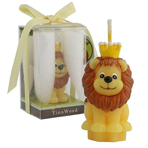 (TinaWood Cute Cartoon Birthday Candle, Smokeless Cake Candles Home-Made Cake Topper, Great Decoration for Home Party Children's Day (Lion))