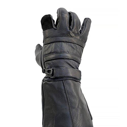 Leather Biker Gauntlets - 7