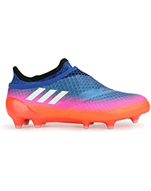 Kids Messi 16+ FG Pure Agility Blue/White/Solar Orange Soccer Shoes