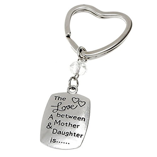 Bling Stars The Love Between A Mother & Daughter is Engraved Keychain Key Ring