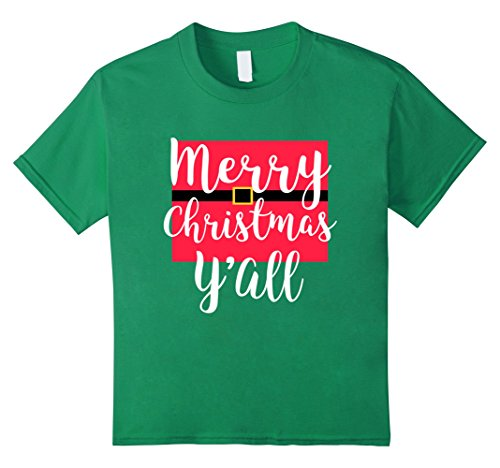 Kids Merry Christmas Yall Santa Suit State Toddler Shirt Colorado 6 Kelly Green