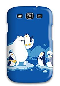 Anti-scratch And Shatterproof Polar Bear And The North Pole Phone Case For Galaxy S3/ High Quality Tpu Case