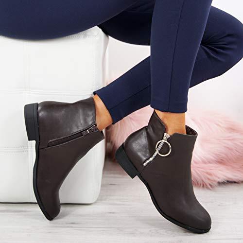 Marron Compensées Sandales Fashion Cucu Femme W14zwOnq