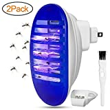2 Pack Indoor Bug Zapper, Plug in Mosquito Killer with UV Light, Electronic Insect Trap for Pests Fruit Flies Flying Gnats