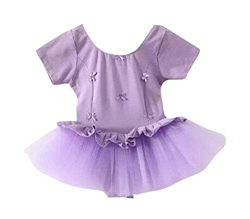 Girls Soft Ballet Gymnastics for Dress Dancing Cotton Purple qwgE4w8Z