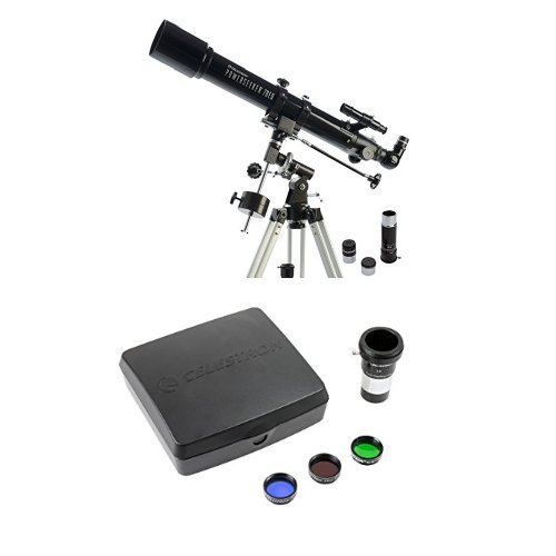 Celestron PowerSeeker 70EQ Telescope with Mars Observing Telescope Accessory Kit/Deluxe kits and Eyepiece Filter
