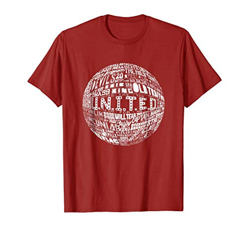- Manchester United - White Typography Print t-shirt