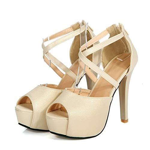 Mujer Pink PU Silver Comfort de Spring Gold Silver Heel Stiletto ZHZNVX Zapatos Poliuretano Heels qE7Y6P