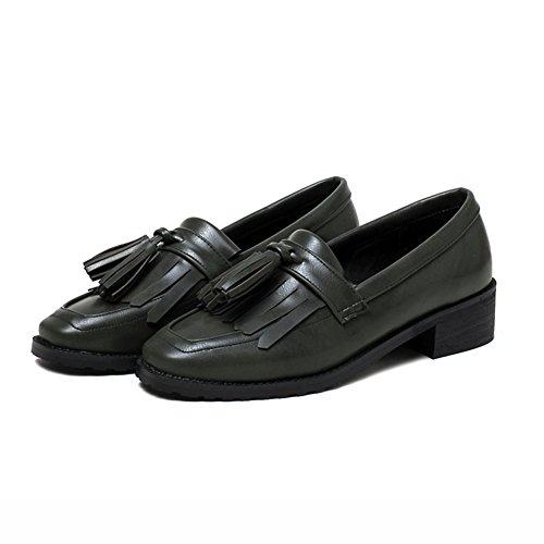 Señora plana zapatos de las mujeres/Borla vintage primavera europea y americana zapatos de talón B