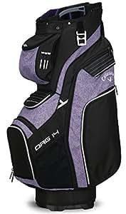 Callaway Golf 2018 Org 14 Cart Bag, Black/ Purple/ Silver