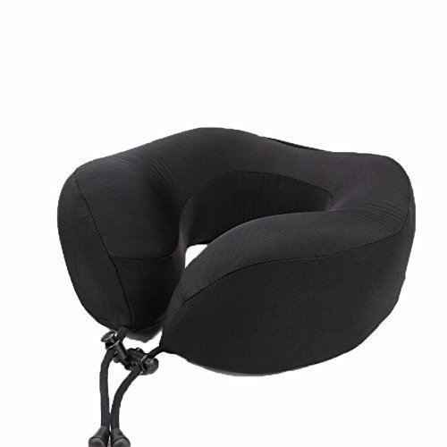 HOMEE U-Shaped Pillow Pillows Cartoon Neck Care Neck Pillow Travel Pillow Cervical Spine Pillow Office Afternoon Nap Lunch Break Pillow U-Memory, Fourth Generation, the Red,Black,Since the admission) by HOMEE (Image #1)