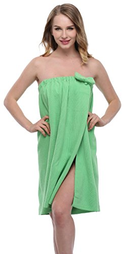 - ExpressBuyNow Spa Bath Towel Wrap For Ladies, 10 Colors-Green
