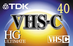 TDK TC40HG High Grade Ultimate VHS-C Video Tape (40 min.)